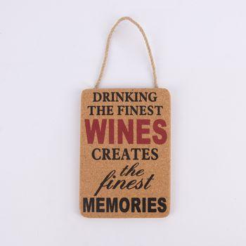 Korkschild Weinliebhaber 3 verschiedene Varianten naturfaben 11,5x16,5cm – Bild 5