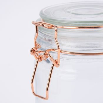 Vorratsglas mit Bügelverschluss Glas kupferfarben 10x15cm – Bild 3