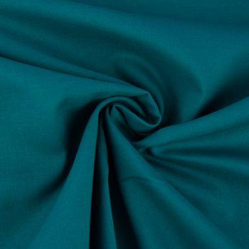 Kreativstoff Baumwollstoff Fahnentuch einfarbig petrol 1,45m Breite – Bild 2