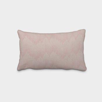 SCHÖNER LEBEN. Kissenhülle Chevron Zacken Punkte natur rosa 30x50cm – Bild 1