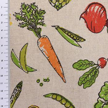 SCHÖNER LEBEN. Tischläufer Gemüse natur bunt 40x160cm – Bild 3