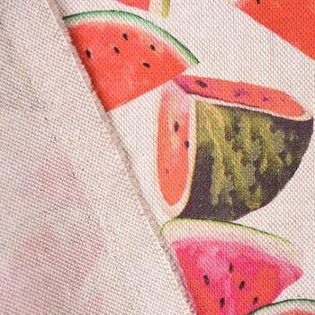SCHÖNER LEBEN. Tischläufer Melonenstücke natur bunt 40x160cm – Bild 5