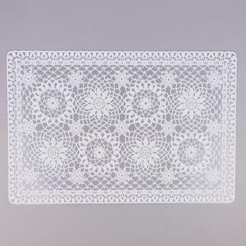 Platzset Häkel Floral weiß 30x45cm – Bild 1