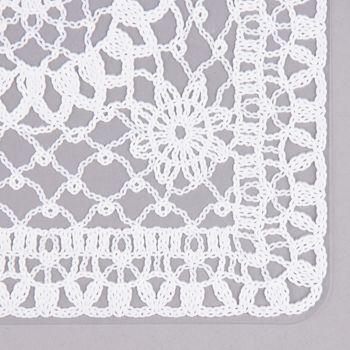 Platzset Häkel Floral weiß 30x45cm – Bild 3