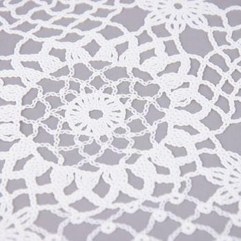 Platzset Häkel Floral weiß 30x45cm – Bild 4