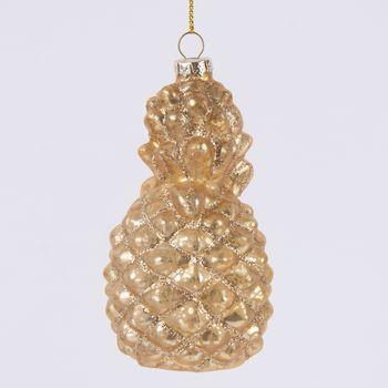 Schmuckanhänger Ananas goldfarbig 12x3,5cm – Bild 2