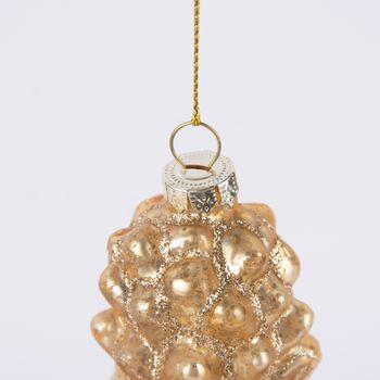 Weihnachten Schmuckanhänger Ananas goldfarbig 12x3,5cm – Bild 3