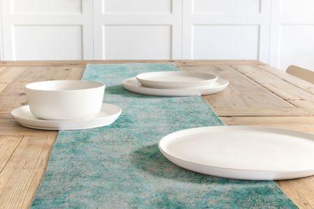 SCHÖNER LEBEN. Tischläufer Oriental Vintage grün mint beige40x160cm – Bild 1