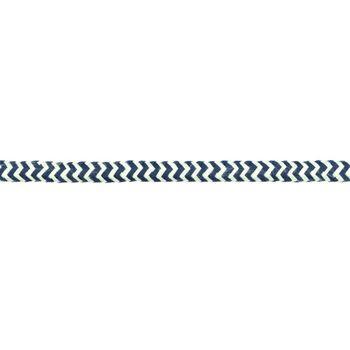 Kordel Zierband Chevron weiß mint Breite: 8mm