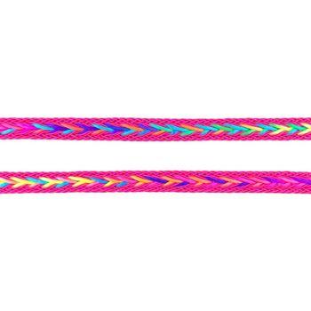 Polyester Band Fischgräten geflochten pink neon Farben Breite: 2cm