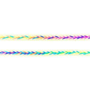 Polyester Band Fischgräten geflochten beige neon Farben Breite: 2cm