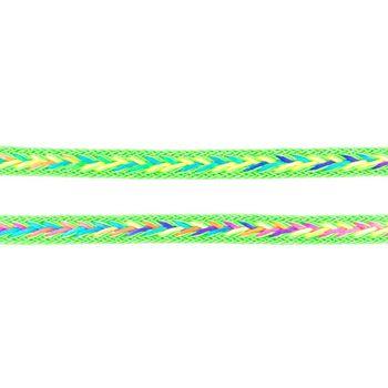 Polyester Band Fischgräten geflochten grün neon Farben Breite: 2cm