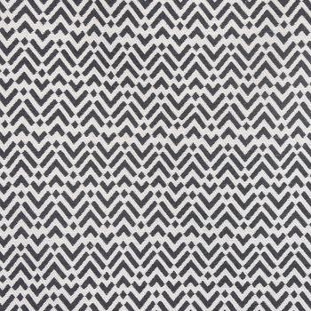 SCHÖNER LEBEN. Vorhang Vorhangschal mit Smok-Schlaufenband Jacquard abstrakt creme schwarz 245cm oder Wunschlänge – Bild 3