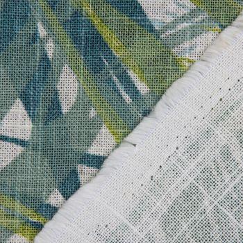 SCHÖNER LEBEN. Tischdecke Palmenblätter petrol grün Töne eckig in verschiedenen Größen – Bild 5