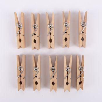 Holzklammer 10 Stück mittel Holz 7,2x2cm – Bild 1