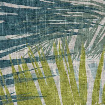 SCHÖNER LEBEN. Tischläufer Palmenblätter petrol grün Töne  40x160cm – Bild 5