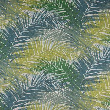 SCHÖNER LEBEN. Kissenhülle Palmenblätter petrol grün Töne 50x50cm – Bild 4
