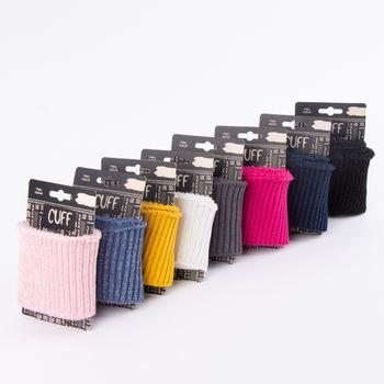 Cuff Bündchen Fertigbündchen Grobstrick Glitzer einfarbig pink 7x110cm – Bild 5