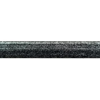 Band Glitzer Farbverlauf schwarz grau silberfarbig Breite: 2,5cm