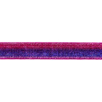 Band Glitzer Farbverlauf goldfarbig rot Breite: 2,5cm