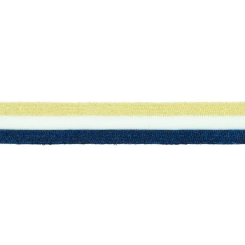 Hosenband Polyester leicht elastisch Streifen Glitzer goldfarbig weiß blau Breite: 3cm