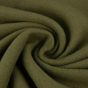Baumwollfleece Fleece aus Baumwolle einfarbig olivgrün 1,55m – Bild 1