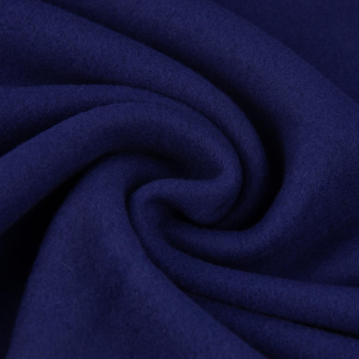 baumwollfleece fleece aus baumwolle einfarbig dunkelblau 1 55m alle stoffe stoffe uni baumwolle rein. Black Bedroom Furniture Sets. Home Design Ideas