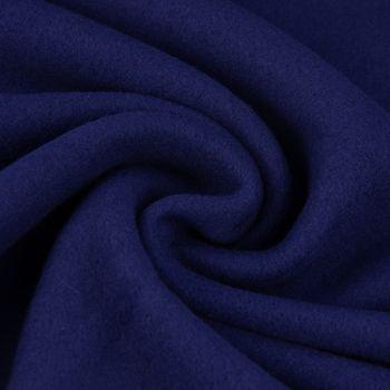 Baumwollfleece Fleece aus Baumwolle einfarbig dunkelblau 1,55m – Bild 1