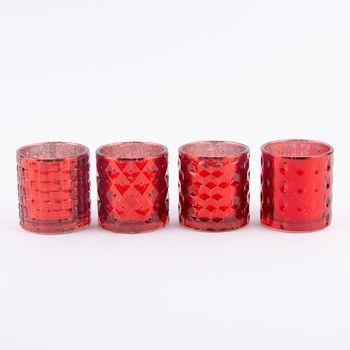 Teelichthalter Glanz rot 7,5x7cm – Bild 1