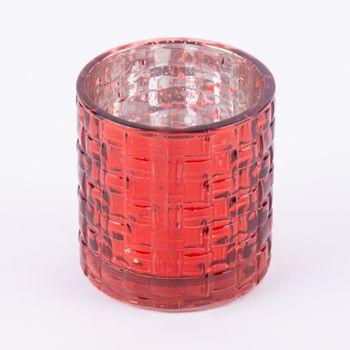 Teelichthalter Glanz rot 7,5x7cm – Bild 4