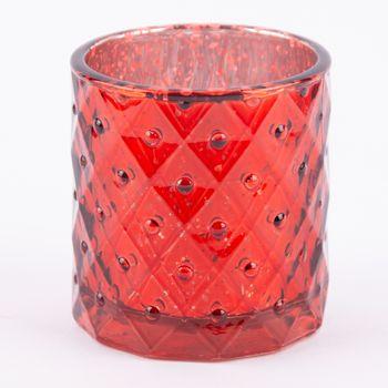 Teelichthalter Glanz rot 7,5x7cm – Bild 7