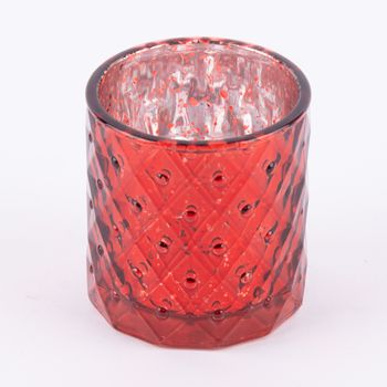 Teelichthalter Glanz rot 7,5x7cm – Bild 8