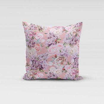 Dekostoff Baumwollstoff Blumen Rosen Lilien rosa weiß flieder 1,4m Breite – Bild 12