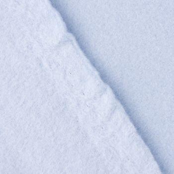 Baumwollfleece Fleece aus Baumwolle einfarbig hellblau 1,55m – Bild 3
