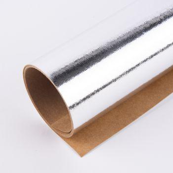 Lederpapier Bogen Stärke 0,55mm silberfarbig 49x100cm – Bild 1