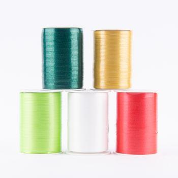 Geschenkband Polyband 200mx5mm dunkelgrün – Bild 2