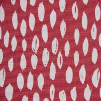 SCHÖNER LEBEN. Kissenhülle rot mit Kleksen Tropfen 30x50cm – Bild 2