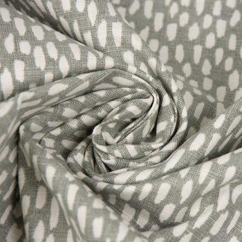 SCHÖNER LEBEN. Kissenhülle grau mit Kleksen Tropfen 30x50cm – Bild 5