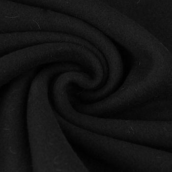 Baumwollfleece Fleece aus Baumwolle einfarbig schwarz 1,55m – Bild 1