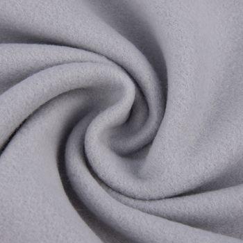 Baumwollfleece Fleece aus Baumwolle einfarbig dunkelgrau 1,55m – Bild 1