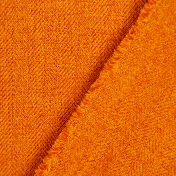 SCHÖNER LEBEN. Vorhang Vorhangschal mit Smok-Schlaufenband Fischgrätmuster Streifen orange meliert 245cm oder Wunschlänge – Bild 7
