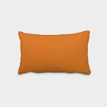 SCHÖNER LEBEN. Kissenhülle Fischgrätmuster Streifen orange meliert 30x50cm – Bild 1