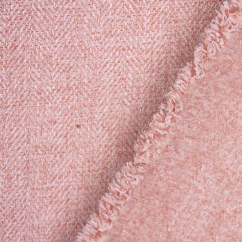 SCHÖNER LEBEN. Vorhang Vorhangschal mit Smok-Schlaufenband Fischgrätmuster Streifen rosa meliert 245cm oder Wunschlänge – Bild 7