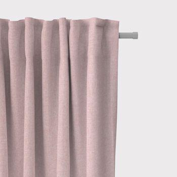 SCHÖNER LEBEN. Vorhang Vorhangschal mit Smok-Schlaufenband Fischgrätmuster Streifen rosa meliert 245cm oder Wunschlänge – Bild 1