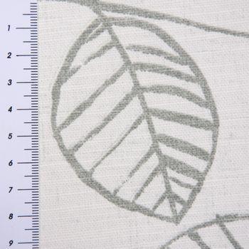 SCHÖNER LEBEN. Kissenhülle Blätter-Rankenmuster grau ecru 30x50cm – Bild 5