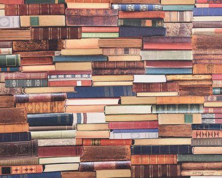 SCHÖNER LEBEN. Kissenhülle Digitaldruck Bücher Books bunt 50x50cm – Bild 3