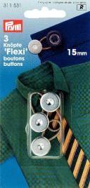 Prym 3 Flexi Knöpfe mit Schlaufe 15mm