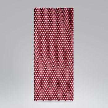 Dekostoff Jacquard Wendestoff Weihnachten beidseitig Sterne weiß rot 1,4m Breite – Bild 9