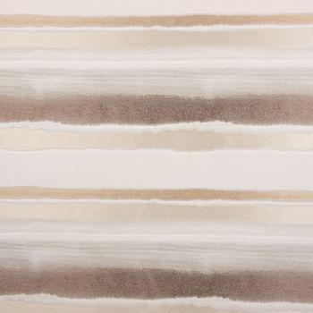 Gardinenstoff Dekostoff Streifen glanz creme beige nougat 1,4m Breite – Bild 1