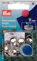 Prym 7 beziehbare Knöpfe 11mm